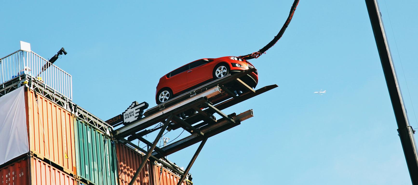 Chevy Bungee Stunt